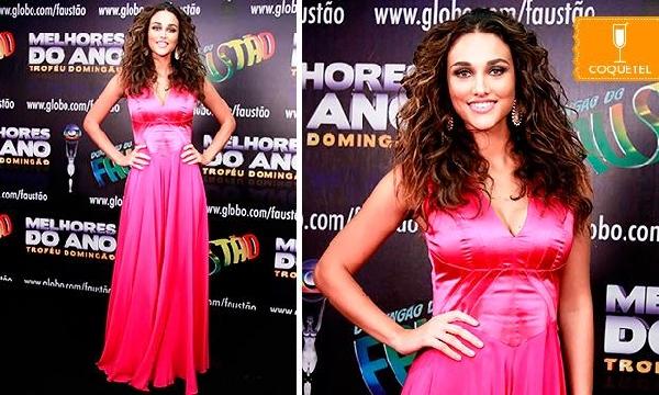 Vestido longo rosa muito charmoso(Foto Divulgação: MdeMulher)