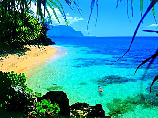 Águas cristalinas para quem gosta de praia (Foto: Divulgação)