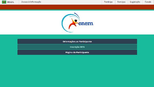 As inscrições devem ser feitas no site do ENEM exclusividade pela internet (Foto: Divulgação ENEM)