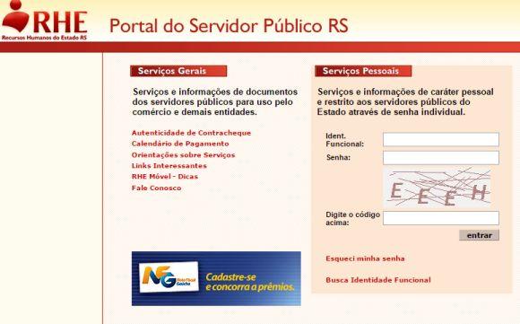 (Foto: Reprodução Portal do Servidor RS)