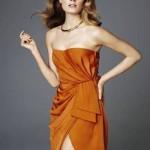 Vestido curto laranja. (Foto:Divulgação)
