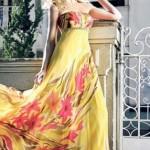 As estampas florais podem ser usadas em vestidos de festa. (Foto: divulgação)