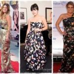 As famosas também são adeptas aos vestidos de festa estampados. (Foto: divulgação)