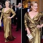 Um lindo vestido dourado para usar a noite. (Foto:Divulgação)
