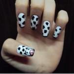 Decoração de unhas inspirada na vaquinha. (Foto:Divulgação)