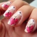 Borboletas inspiraram esta nail art. (Foto:Divulgação)