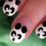 Unhas decoradas com panda. (Foto:Divulgação)