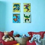 Elementos simples na decoração do quarto com super heróis. (Foto:Divulgação)