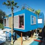 O azul é muito utilizado em fachadas (Foto: Divulgação)