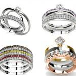 Diferentes modelos de anéis femininos.  (Foto:Divulgação)
