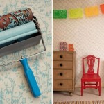 Rolo texturizado cria efeito de papel de parede. (Foto: divulgação)