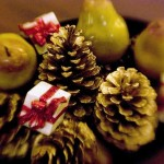 As peras podem ser utilizadas para enfeitar as mesas natalinas. (Foto: divulgação)