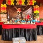 Mesa principal pronta para a festa.  (Foto:Divulgação)