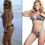 Geisy Arruda de corpo inteiro (antes e depois). (Foto:Divulgação)