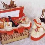 Uma linda cesta de Natal para dar de presente. (Foto: Divulgação)