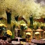 As flores deixam a decoração do casamento mais delicada. (Foto:Divulgação)