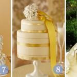 O bolo pode ser feito com detalhes dourado. (Foto: divulgação)