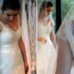 A manga de renda deixa o vestido romântico e delicado. (Foto:Divulgação)
