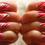 As candy nails podem ser usadas nas festas de natal. (Foto: divulgação)