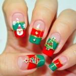 Motivos variados em unhas para o natal. (Foto: divulgação)