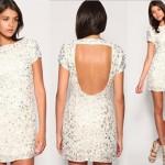 Na hora de comprar o vestido branco, opte pelo curto e largo. (Foto: divulgação)