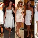 O vestido branco curto pode ser usado na praia ou mesmo para ir ao trabalho. (Foto: divulgação)