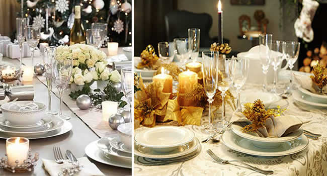Decoração de mesa para ceia do Ano Novo 2015 (Foto: Divulgação)