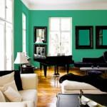 Paredes pintadas de verde-esmeralda. (Foto:Divulgação)