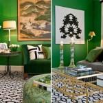 Uma composição moderna e charmosa com verde-esmeralda. (Foto:Divulgação)