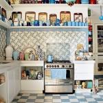 Cozinha colorida com toque retrô. (Foto:Divulgação)