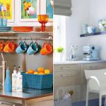 O branco da cozinha é quebrado graças aos elementos coloridos. (Foto:Divulgação)