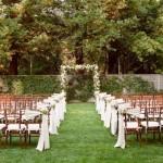 Casamento realizado sobre um lindo gramado verdinho. (Foto:Divulgação)