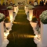Decoração de casamento de igreja simples