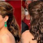 Os cabelos meio presos proporcionam mais volume aos cabelos. (Foto: divulgação)