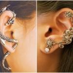 O Ear cuff pode ser encontrado em formatos de animais. (Foto:Divulgação)