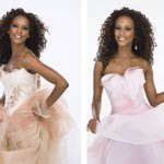 Thaís Araújo, com modelos de vestidos de noiva em outras cores (Foto: Divulgação)