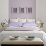 O lilás aparece suavemente neste quarto de casal. (Foto:Divulgação)