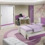 Decoração de quarto infantil com lilás. (Foto:Divulgação)