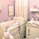 Um delicado e feminino quarto de bebê. (Foto:Divulgação)