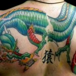 As tatoos de dragão podem significar ainda equilíbrio na vida e boa vontade (Foto: Divulgação)