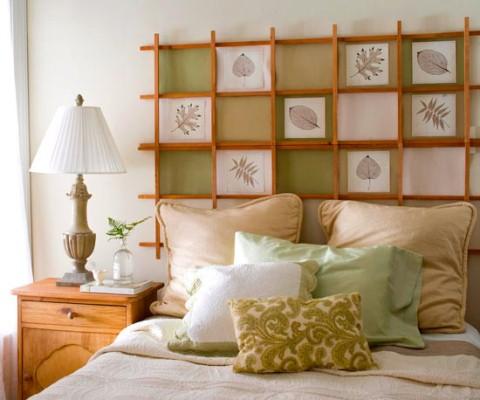Cabeceira barata e criativa para a cama (Foto: Divulgação)
