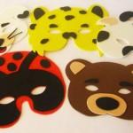 As máscaras de animais fazem sucesso entre as crianças. (Foto: Divulgação)