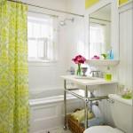 A cortina do banheiro deixa ele decorado (Foto: Divulgação)