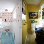 Veja dois exemplos de decoração de banheiros pequenos (Foto: Divulgação)