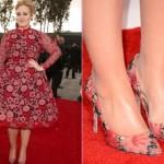 Vestido florido de Adele. (Foto:Divulgação)