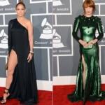 Vestidos de Jeniffer Lopez e Florence Welch. (Foto:Divulgação)