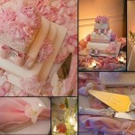 O bolo de casamento em rosa e branco fica muito lindo (Foto: Divulgação)