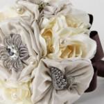 Flores de tecido são bastante delicadas. (Foto: divulgação)