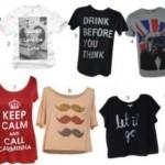 As camisetas divertidas estão entre as tendências da moda atual. (Foto: divulgação)