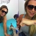 Joana Machado também optou pela tatuagem árabe (Foto: Divulgação)